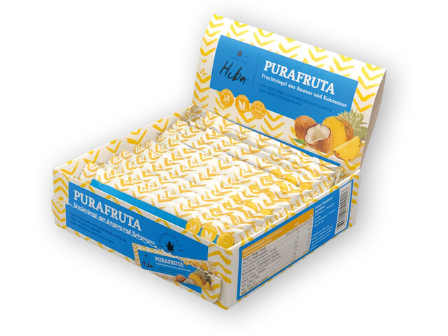 Hiba Purafruta Energy Bar Box 12x30g, Pineapple/Coconut